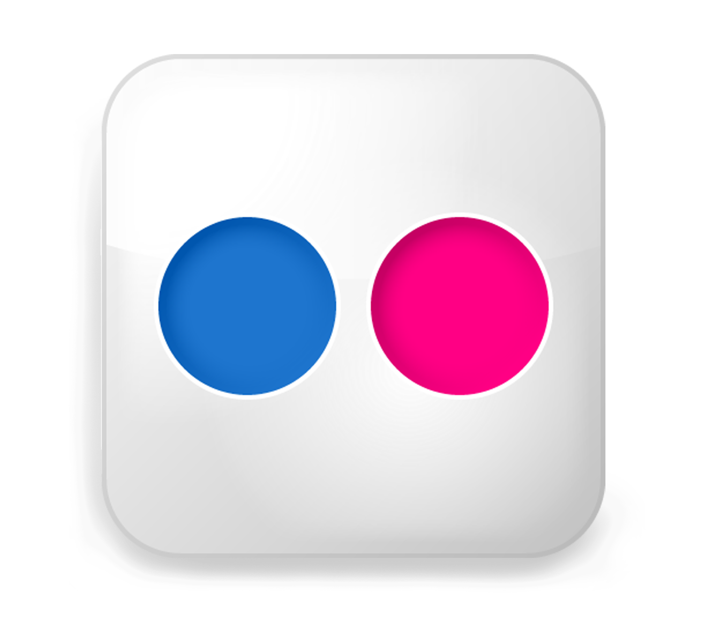 transparent flickr logo icon
